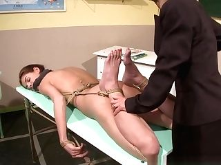 Lezzie Domination Tutor Dildoes Restrained Student