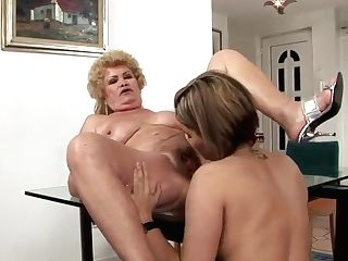 Granny Effie Gets Ate By Youthfull Exotic Dark Haired