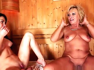 Chesty Stunner Pussylicking A Matures Girl-on-girl