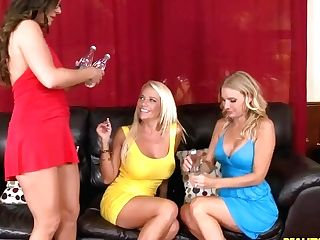 Three Horny And Gorgeous Ladies Remind Their Girl-on-girl Past
